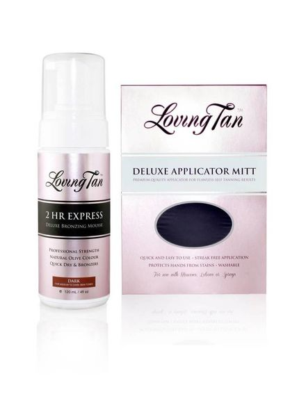LovingTan Loving Tan 2 Hr Express Mousse - dark Combo Set