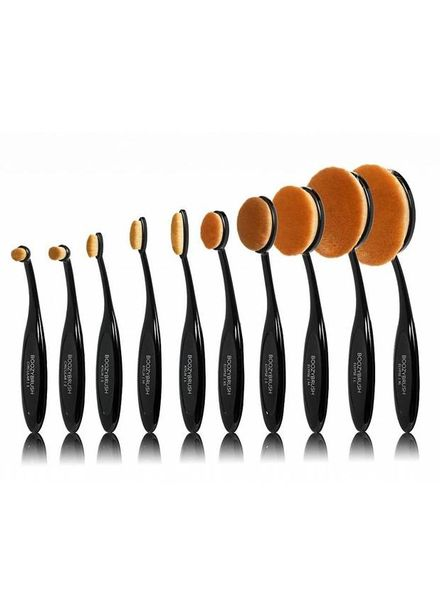 Boozy Cosmetics Boozy Cosmetics 10er Black Oval Brush Set