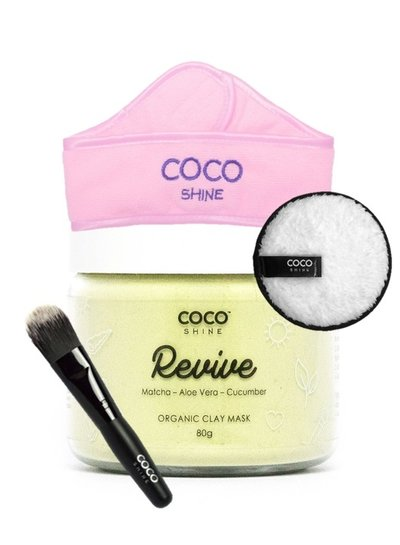 Cocoshine Organic Clay Mask Combo - Revive