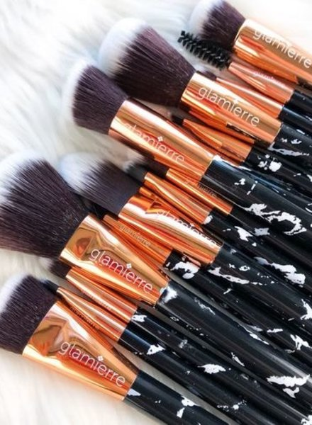 Glamierre Glamierre - Deluxe Black Marble Brush Collection