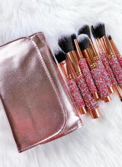 Glamierre Glamierre - Pink Luxe Rosegold Bedazzled Set