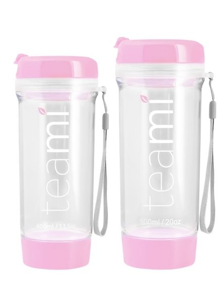 teami Tea Tumbler 400ml - Baby Pink
