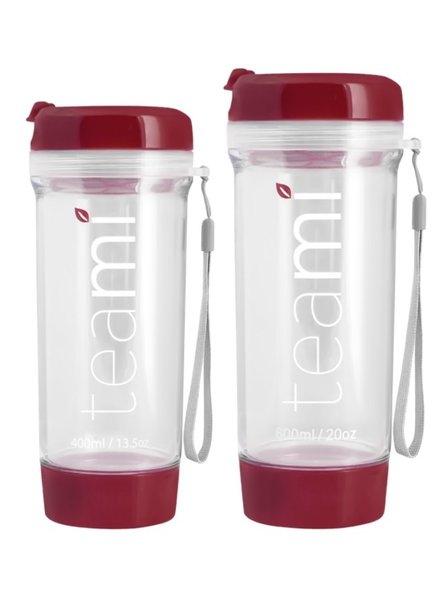 teami Tea Tumbler 400ml - Burgundy