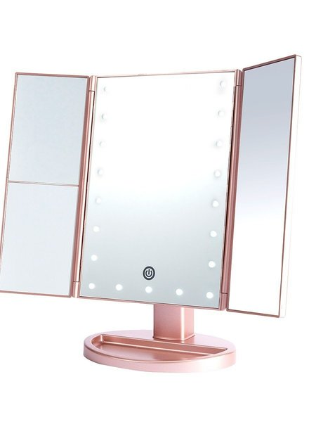 Lurella  Lurella Cosmetics - Desktop Mirror - Rosegold