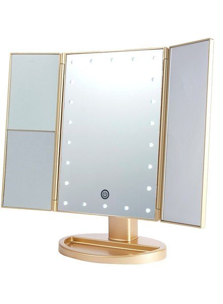Lurella  Lurella Cosmetics - Desktop Mirror - Midas Gold