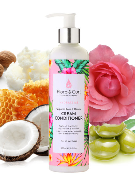 Flora & Curl Flora & Curl - Organic Rose & Honey Cream Conditioner