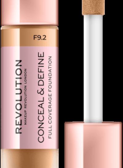 Makeup Revolution Conceal & Define Full Coverage Foundation [F 9.2]