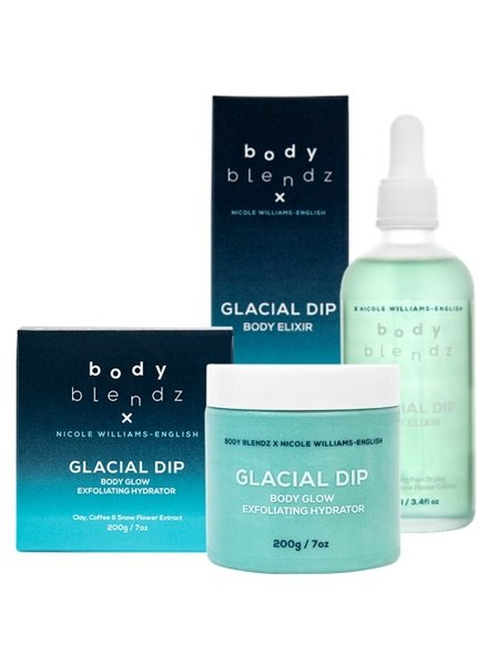 Bodyblendz Body Glow Glacial Dip Set