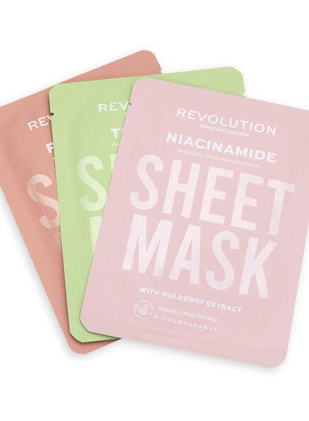 Revolution Beauty London Revolution Skincare - Oily Skin Sheet Mask 3 Pack
