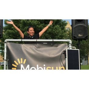 Sustainable party solar dj stage
