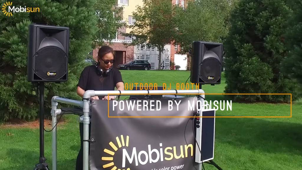Mobisun Duurzaam feest met de solar dj stage: muziek uit zonneenergie