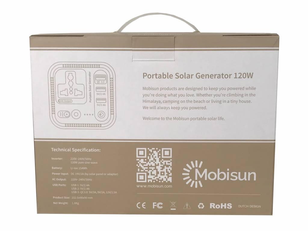 Mobisun Universal Laptop Powerbank 120W / 154Wh | Mobisun