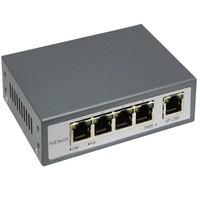 5 poort 10/100mb switch met 4 PoE poorten - IEEE802.3af
