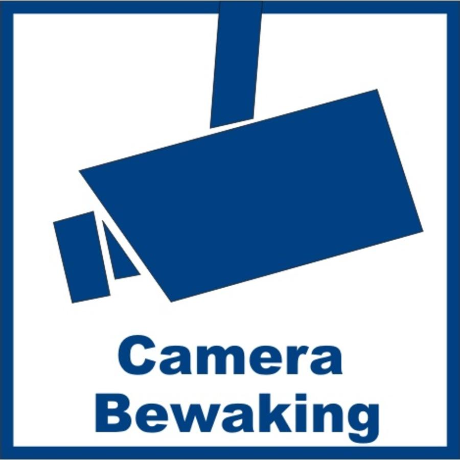 "Sticker ""camerabewaking"" 5.3 x 5.3 cm binnenkant raam/deur - 2 stuks"