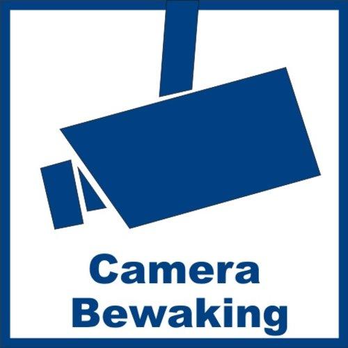 """Sticker """"camerabewaking"""" 10.6 x 10.6 cm buitenkant raam/deur"""