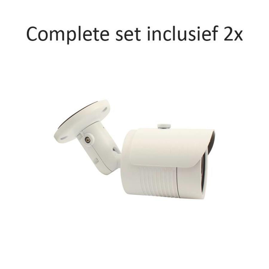 CC-CS02BC1 - 4 kanaals CVR inclusief 2 CC-BC1 camera's