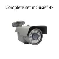 CC-CS04BC3 - 4 kanaals CVR inclusief 4 CC-BC3 camera's