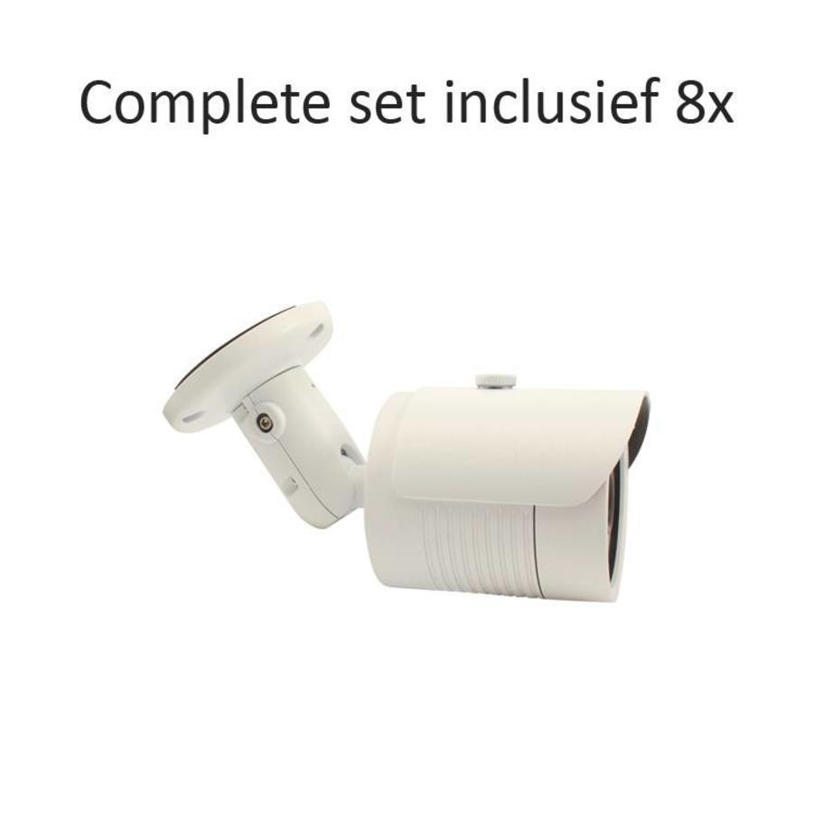 CC-CS08BC1 - 8 kanaals CVR inclusief 8 CC-BC1 camera's