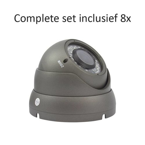 CC-CS08DC2 - 8 kanaals CVR inclusief 8 CC-DC2 camera's