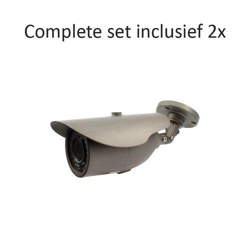 CF-CS02BC2 - 4 kanaals CVR inclusief 2 CF-BC2 camera's