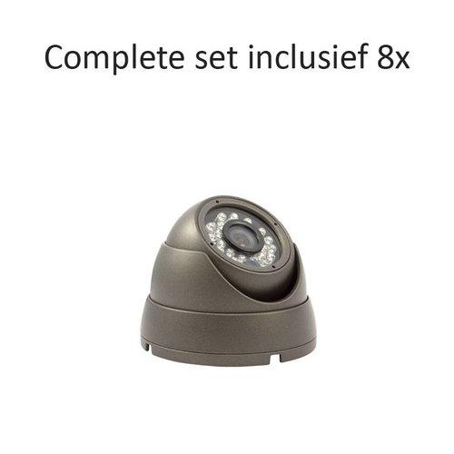 CF-CS08DC1 - 8 kanaals CVR inclusief 8 CF-DC1 camera's