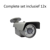 CF-CS12BC3 - 16 kanaals CVR inclusief 12 CF-BC3 camera's