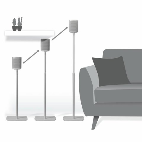 Sonos One / Play:1 set verstelbare standaards wit (2 stuks)