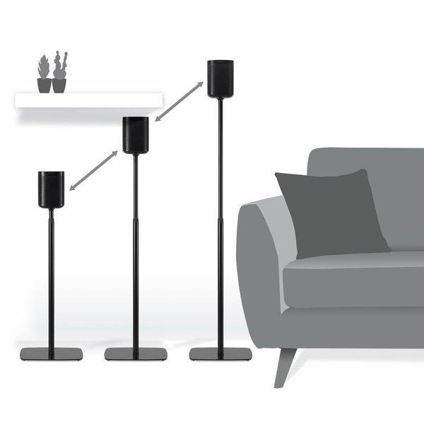 Flexson Sonos One / Play:1 set verstelbare standaards zwart (2 stuks)
