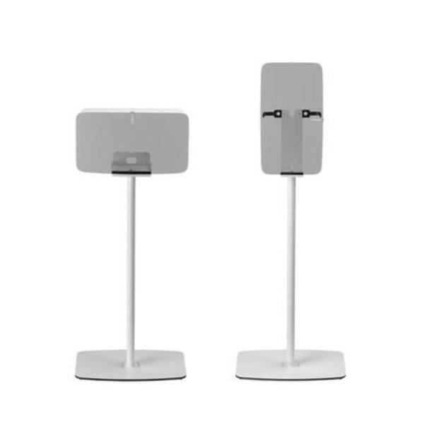 Flexson Vloerstandaard Wit voor Sonos Five en Play:5 Horizontaal/Verticaal