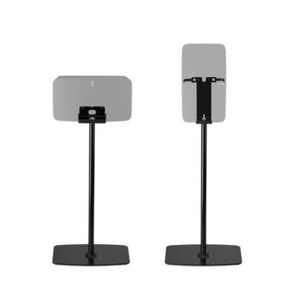 Flexson Vloerstandaard Zwart voor Sonos  PLAY:5 en Sonos Five Horizontaal/Verticaal