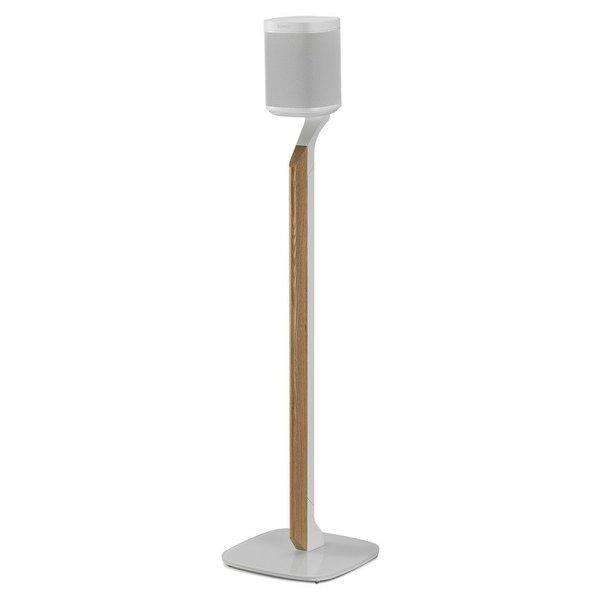 Flexson Premium Vloerstandaard Wit Eiken voor SONOS ONE/ Play:1