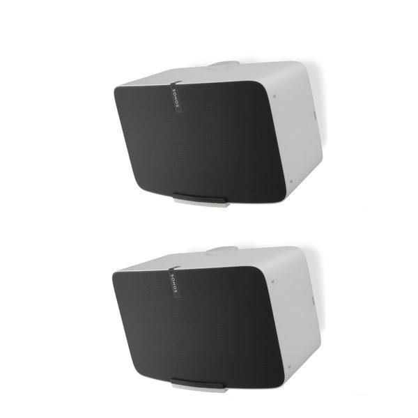 Flexson Muursteun Wit voor Sonos PLAY:5 (Nieuw) GEN 2 - Set van 2