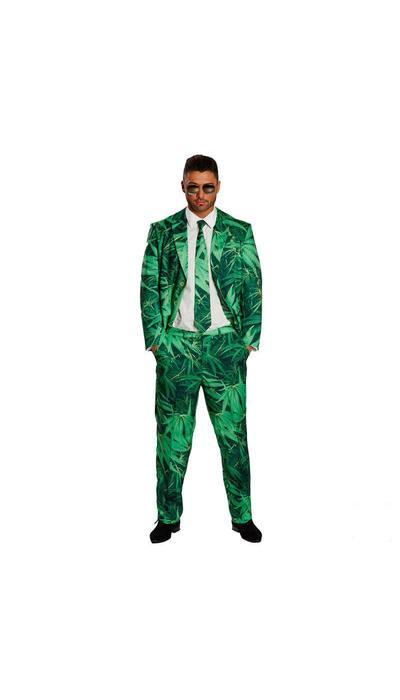 koop Kostuum met wiet print