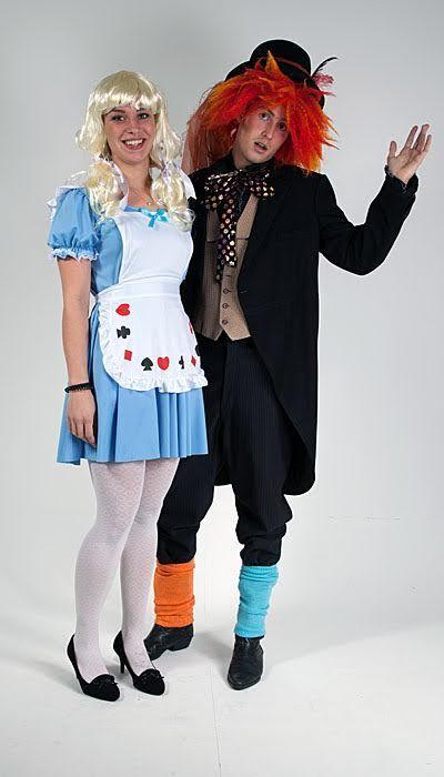 Alice in Wonderland & Mad Hatter kostuums