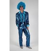 Modern blauw glitterpak