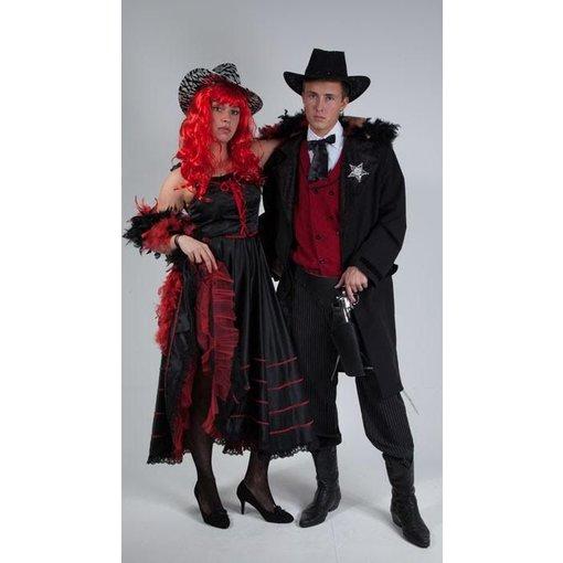 Sheriff en Saloongirl kostuum huren