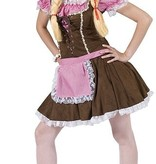 koop Dirndl jurk roze/bruin
