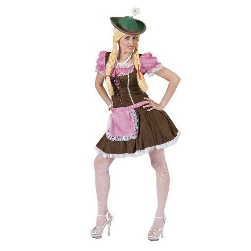 koop Dirndl jurk roze/bruin  VERKOOP