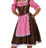 Dirndl jurk roze/bruin lang kopen