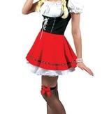 Dirndl jurk zwart/rood kopen