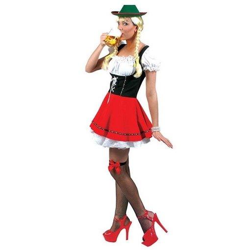 koop Dirndl jurk zwart/rood  VERKOOP