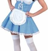 koop Dirndl jurk blauw/wit kopen