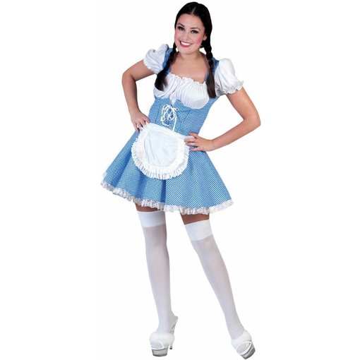 koop Dirndl jurk blauw/wit  VERKOOP