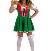 Dirndl jurk groen/rood huren