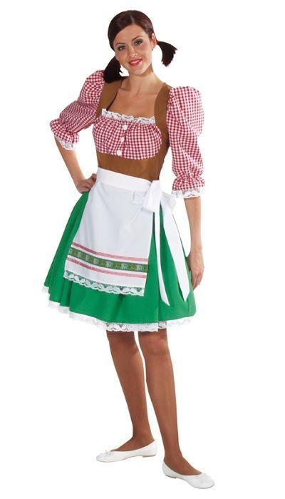 Dirndl jurk met schort