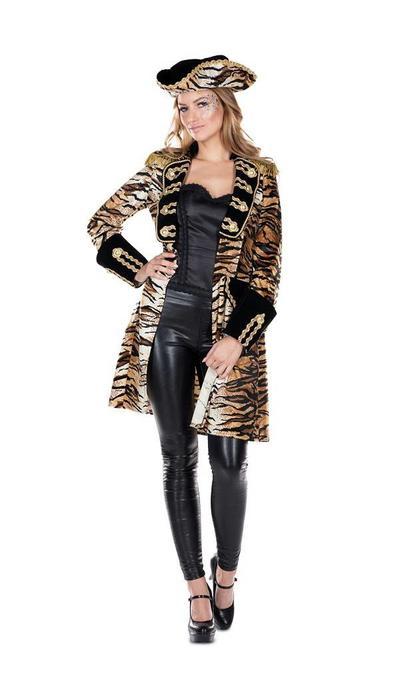 partyxplosion Carnavalsjas tijgerprint