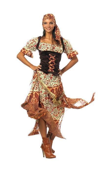 partyxplosion Zigeunerin kostuum