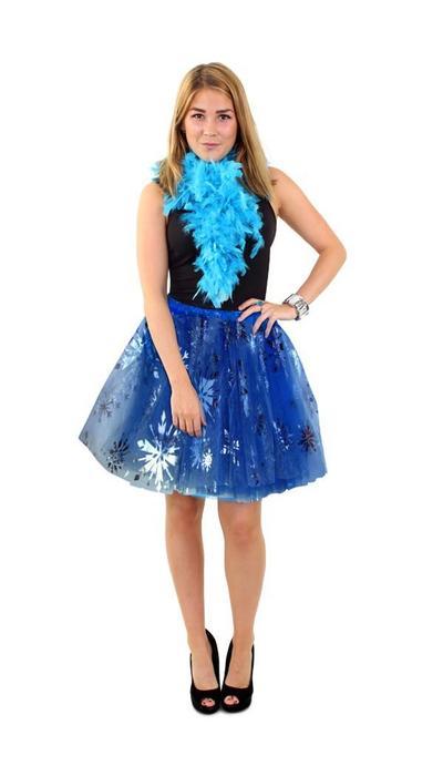 partyxplosion Blauw tule rokje ijsprinces