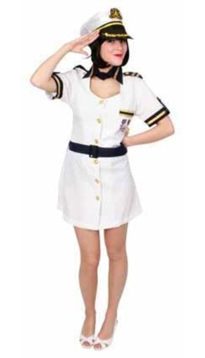 partyxplosion Kapitein kostuum vrouw