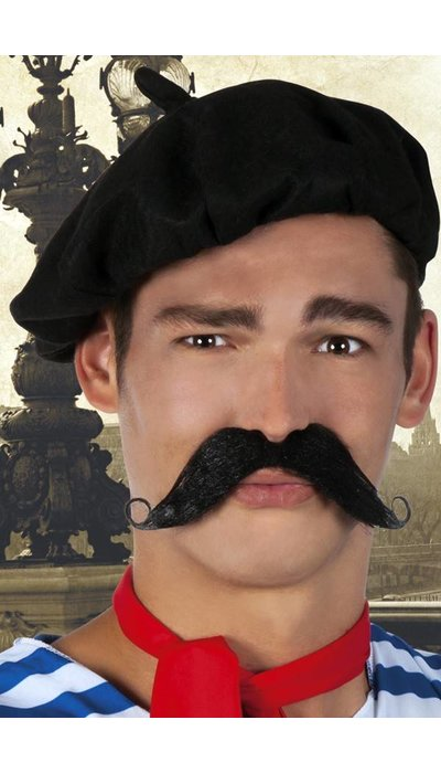 partyxplosion Franse snor zwart